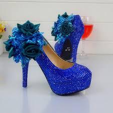 wedding shoes royal blue wedding dress shoes royal blue color rhinestone party prom high