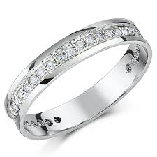 white gold eternity ring 4mm 9ct white gold third carat diamond eternity ring eternity