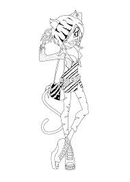 toralei stripe monster high coloring pages for kids printable