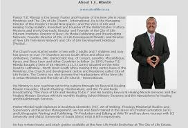 exle biography for ministers warning rick joyner to visit south africa and join hands with angus