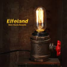 Steampunk Desk Lamp Elfeland Vintage Table Lamp With Ul Listed Button Switch Cord