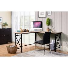 Overstock Corner Desk Banquo Brown Wood And Metal Corner Desk Free Shipping Today