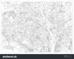 Kiev Map Black White Drawing Map City Kiev Stock Vector 492471523