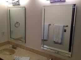bathroom frameless mirrors chic oval frameless mirrors bathroom full image for beveled mirror