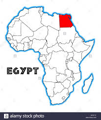 Africa Blank Map by Egypt Outline Inset Into A Map Of Africa Over A White Background