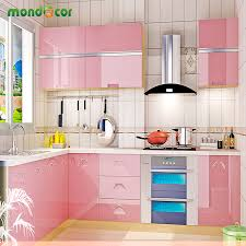 online get cheap diy kitchen cabinet aliexpress com alibaba group 5m glossy diy decorative film vinyl self adhesive wall paper furniture renovation stickers kitchen cabinet waterproof