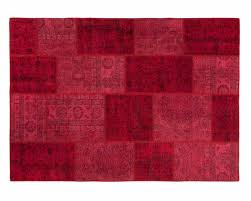 Extra Large Red Rug Red Patchwork Persian Recoloured Rugs Online Shops Extra Large