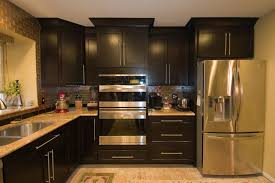 small kitchen black cabinets white island dark cabinets fabulous home design