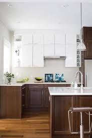 Kitchen Cabinets White by Black And White Kitchen With White Top Cabinets And Black Bottom