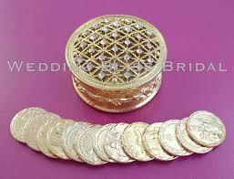 arras de boda gold w rhinestones wedding arras box unity coins arras de