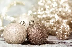ornaments of gold and silver stock image image of