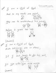 primary singing time ideas singing magic i am a child of god sign