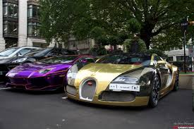 gold and black bugatti chrome supercars shine in london gtspirit