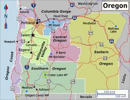 map of oregon freeways oregon travel guide at wikivoyage