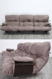 modèle de canapé 3 places michel ducaroy modèle marsala en tissu taupe et plexiglas
