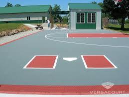 Sports Courts For Backyards Versacourt Backyard Basketball Court Photos U0026 Ideas
