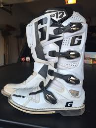 motocross boots size 11 gaerne sg12 white size 11 for sale bazaar motocross forums