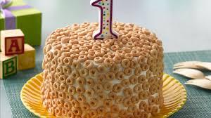 cheerios first birthday cake recipe bettycrocker com