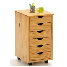 caisson de bureau sur roulettes caisson sur roulettes pin naturel nils meuble 6 tiroirs pour