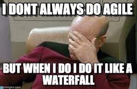 Agile Meme - i dont always do agile facepalm picard meme on memegen