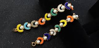 seed bead necklace clasp images 2 hole seed bead jewelry how to make a colorful 2 hole seed bead jpg