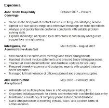 Sample Work Experience Resume by Sample Of Resume With Experience Gallery Creawizard Com