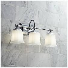 Nicholas Collection Polished Chrome  Wide Bathroom Light - Polished chrome bathroom lighting