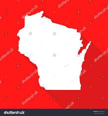 Kenosha Map Wisconsin White Mapborder Flat Simple Style Stock Vector 366919019