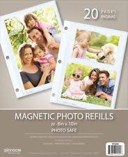 5 up photo album magnetic photo album refills 10 pack for up to 20 8x10