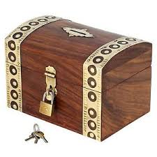 money box money box piggy bank with lock and key wooden brass inlay antique