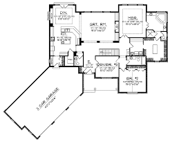 single story house plans angled garage homes zone