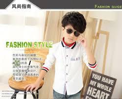white long sleeve boys shirts chemise enfant garcon color bar