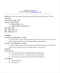 Standard Resume Templates Electronic Engineer Resume Format Standard Resume Formats English