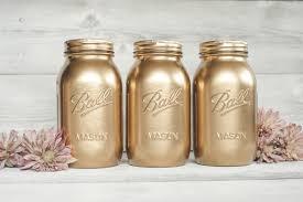 Mason Jar Home Decor Ideas Gold Mason Jar Home Design Ideas