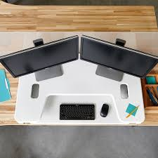Standing Desk For Cubicle Cubicle Standing Desk Cube Plus Series Varidesk