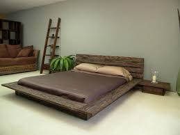 Low Height Bed Frame Low Height Level Floor Bed Designs 23