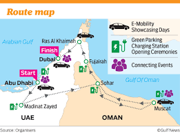 map of oman and uae electric vehicles road trip across uae and oman gulfnews