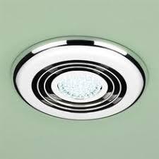 led bathroom shower extractor fan 3 4w light kit chrome grill