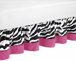 Zebra Bed Set Bed Skirt For Zebra Pink Animal Print Bedding Set By Jojo