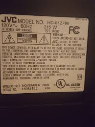 jvc hd 61z786 l 60 jvc rear projection tv 1280 x 720 hd 61z786 tvs in deerfield