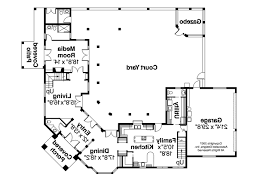 mediterranean floor plans with courtyard layout 22 straw bale