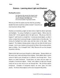 light and shadows lesson plans science learning about light and shadows worksheet for 3rd 4th