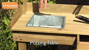 Merry Garden Potting Bench by Kingfisher Potting Table Youtube