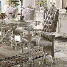 versailles dining room acme furniture versailles dining arm chair set of 2 hayneedle