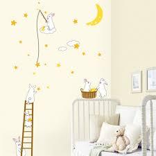 stickers chambre bébé decoration stickers chambre bébé lapins blans sympas stickers