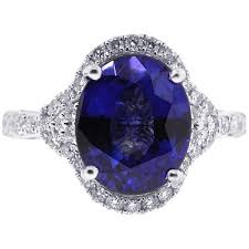 oval sapphire engagement rings oval blue sapphire womens ring 14k white gold 6 25ct