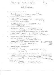 moles molecules and grams worksheet u2013 answer key