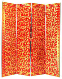 Gold Room Divider by Wayborn Golden Vine Room Divider In Red Gold Asian Screens And