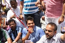 Namal Rajapaksa Rajapaksa Protests Against Premadasa