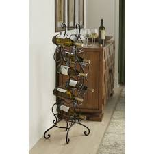 metal wine rack table metal wine racks you ll love wayfair
